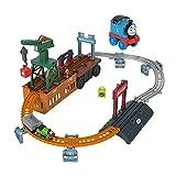 Thomas & Friends- Playset Thomas Trasformabile 2-in-1, Trenino a Spinta e Pista con Gru Funzionante, Giocattolo per Bambini 3+Anni, GXH08