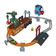 Thomas & Friends Fisher-Price 2-in-1 Transforming Thomas Playset, push-along train and track set wit...