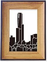 DIYthinker Australia City Landmark Skyscrapers Silhouette Photo Frame Desktop Display Picture Art Painting Holder