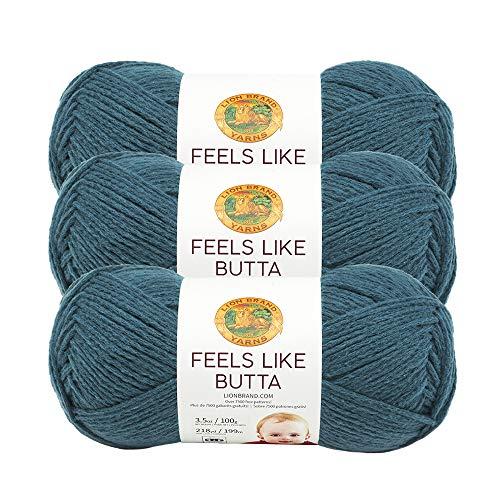 (3 Pack) Lion Brand Yarn 215-178A Feels Like Butta Yarn, Teal