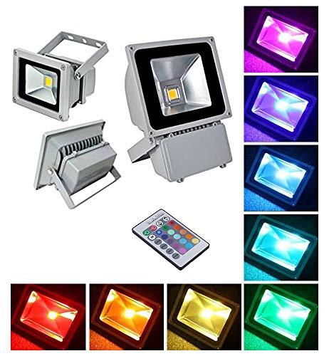 Phare - Projecteur LED RGB avec télécommande multicolore 10w 20w 30w 50w 100w - 10 Watt