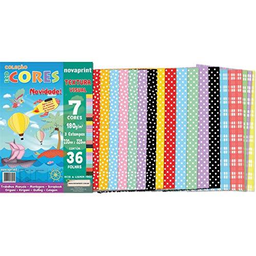 Bloco Para Educação Artística 180g, Novaprint, Eco Cores, 230x320 mm, Textura Visual, 36 Folhas