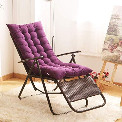 JD Bug Lounge stoel kussen, dikker zacht ademend terras stoel kussens geschikt voor schommelbank buiten en binnen mat paars 155x48x8cm (61x19x3 inch)