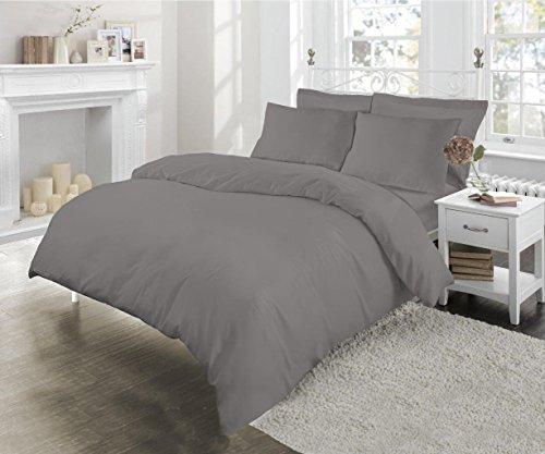 Sleep and Beyond Sábana Bajera Ajustable, poliéster, algodón, Gris, Individual