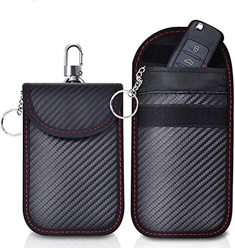 CangNingShang 2er Pack Faraday-Tasche Keyless Car Keys Case RFID-Blocker-Tasche für Autosicherheit Diebstahlsichere Faraday-Tasche für Autoschlüssel RFID-Autoschlüssel-Signalblockierbeutel