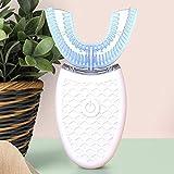 Bels Elektrische ZahnbüRste SchallzahnbüRste, Intelligente 360°Vollautomatische Elektrische ZahnbüRste,ZäHneaufhellung Silikon Ultraschall-ZahnbüRste Mit 3 Reinigungsusbaufladen
