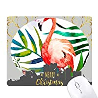 熱帯植物のフラミンゴの花 クリスマスイブのゴムマウスパッド