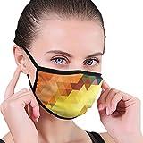 Uosliks Masken buntes Dreieck mit Punkt Textur Hintergrund-Masken Gesichtsmaske Polyester Masken...