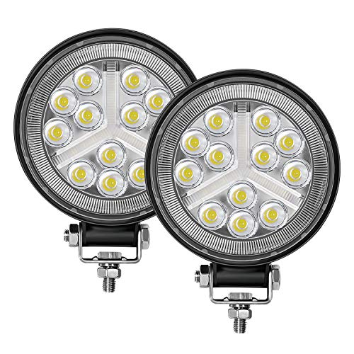 Zmoon 4.5'' Round LED Offroad Lights 2PCS 4500LM Spot & Flood Light Bar, LED Driving Fog Lights for Tractor, Boats, Jeep, ATV, Truck, UTV, Trailer, SUV
