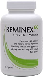 Reminex 60 Anti-Gray Hair Vitamin - Enriched With Catalese To Restore Gray and White Hair To Original Color - Essential Nu...