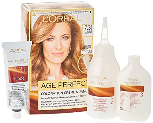 L'Oréal Paris - Excellence Age Perfect - Coloration Permanente Cheveux Matures & Très Blancs - Nuance 7,31 Blond Caramel