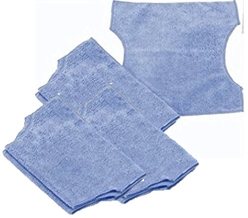 6 Pack Reusable Washable Microfiber cloth Compatible with Swiffer Refills Compatible with Swiffer Sweeper Refills, Compatible with Bissell Steamboost Steamer Pads, Compatible with Swiffer 2 in 1