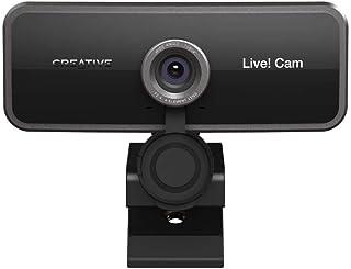Creatief Live! Cam Sync 1080p Full HD Groothoek USB-webcam met dubbele ingebouwde microfoon, lenskap, universele statiefve...