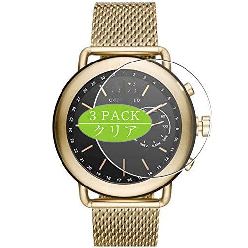 Vaxson - Pellicola protettiva per display, compatibile con orologio ibrido Armani Exchange Connected Hybrid Smartwatch, pellicola protettiva HD [non in vetro temperato]