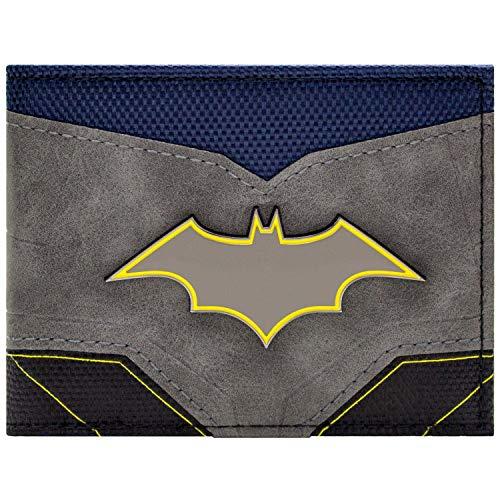 Batman Style de Costume avec Badge Portefeuille Gris