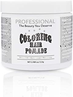 Hair Coloring Pomade Silver Grey Temporary Hair Color Wax for Party Cosplay or Daily Use Instant Color Pomade