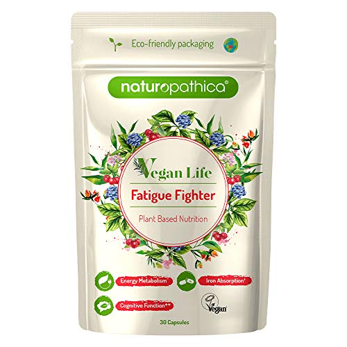 Naturopathica Vegan Life | Fatigue Fighter | Plant Based | 30 Capsules