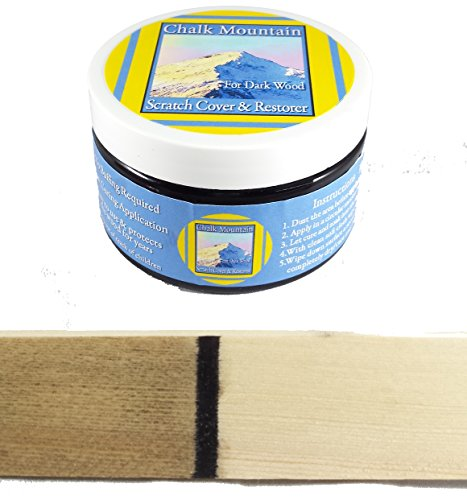 Chalk Mountain Scratch Cover & Restorer - 4oz - For Dark Wood -100% All Natural Wood Restorer & Scratch Cover ZERO VOC & LOW ODOR