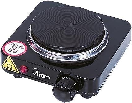 Ardes AR1F18 Cocina eléctrica TIKAPPA F18 Hornillo en Placa de Acero Pintado de 10,5 cm de Diámetro en Hierro Fundido con Termostato