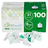 Care Touch - CTPN3114 Pen Needles 31 Gauge, 1/4 inches, 6mm (Pack of 100)
