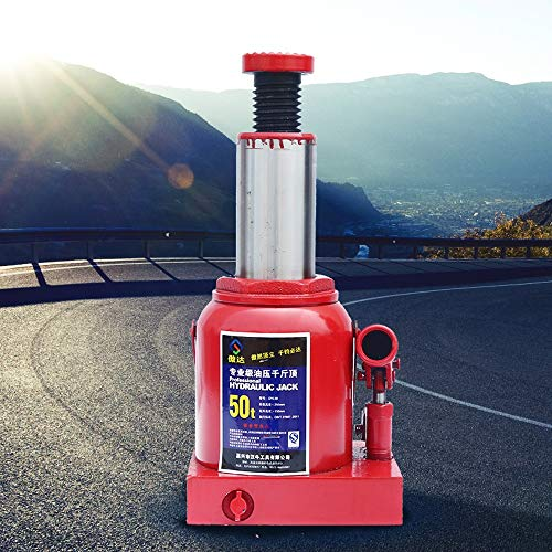 AXWT Gato hidráulico, Botella 2-50T Gato de Botella hidráulica Resistente Gato de elevación de Coches Caravana Vehículo Automotor Ascensor (tamaño : 50T)