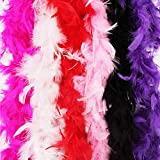 Best Feather Boas - Feather Boa Set of 6 Festive Vibrant Colors Review