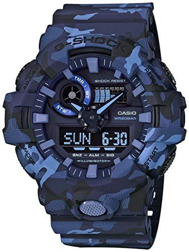 Casio G-SHOCK Reloj Analógico-Digital, 20 BAR, Azul/Camuflaje, para Hombre, GA-700CM-2AER