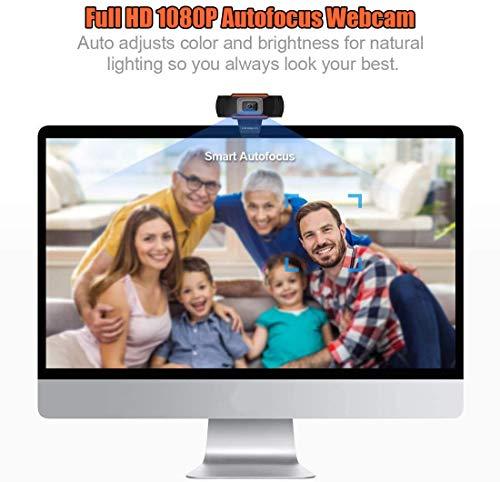 Webcam PC 1080P Full HD con Micrófono Estéreo, Portátil Cámara Web USB 2.0 Reducción de Ruido,Web CAM de Enfoque Fijo… 4