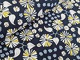 Baumwolljersey Florales Zauber Dunkelblau Stoff Jersey