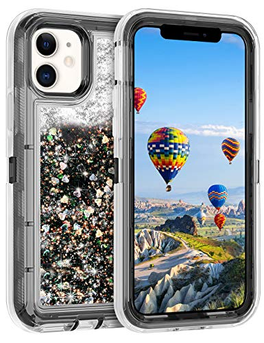 Coolden Case for iPhone 11 Cases Protective Glitter Case for Women Girls Cute Bling Sparkle Heavy Duty Hard Shell Shockproof TPU Case for 2019 Release 6.1 Inches iPhone 11 iPhone XI, Black