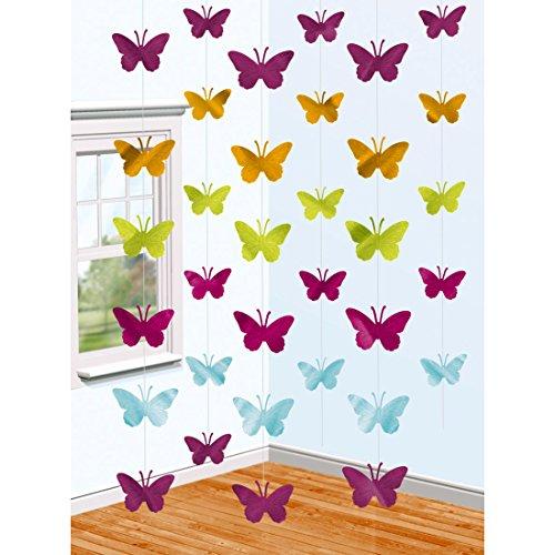 Hängedeko Butterfly - 210 cm - 6 STK. Dekohänger Schmetterling Girlanden Sommerdeko Dekoration zum Aufhängen Frühling Schmetterlingsgirlande 6 STK. Dekohänger Schmetterling