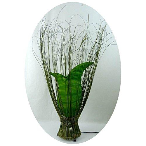 Deko-Leuchte Stimmungsleuchte Stehleuchte Tischleuchte Tischlampe Bali Asia TULPE klein 60 cm Color Grün