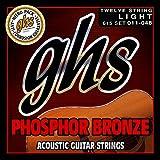 GHS corde 61512-string set chitarra acustica di bronzo fosforoso, chiaro
