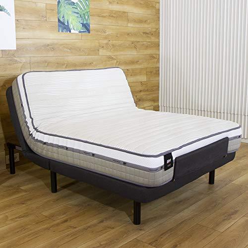 BH Ulti-Mate M500 + CELLIANT 135x200cm Cama articulada 135 x 200 cm – Colchón viscoelástico y somier tapizado en Tela, Oscuro, Doble