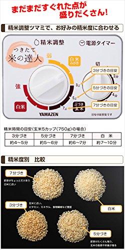[山善]圧力式家庭用精米機つきたて米の達人5合用ホワイトYRP-51(W)