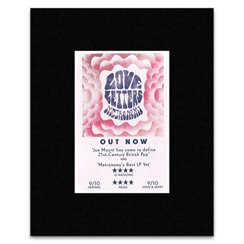 METRONOMY - Love Letters Matted Mini Poster - 13.5x10cm