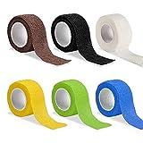 ALHX Vendaje cohesivo Sport Tape [2.5cm x 4.5m] Venda Elastica Envoltura Tape impermeable para Primeros Auxilios, Lesiones Deportivas, Hinchazón y Esguinces de Tobillo y Muñeca