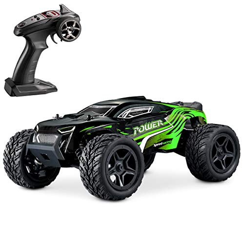 Hosim Rc Cars 1:14 4WD Monster Truck 36+ kmh High Speed Electric Remote Control Car 4x4 RC Offroad Buggy All Terrain Waterproof Car Vehicle RC Toys Cars for Kids and Adults(Green)