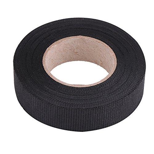 Automotive bedrading harnas tape, multifunctionele auto bedrading harnas tape, hittebestendige kleefstof stof tape om lawaai te verminderen voor auto motorfiets, zwart, 15 mm.