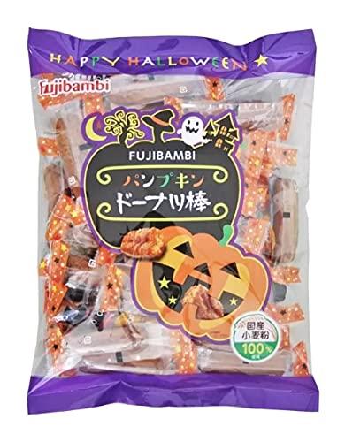 ハロウィンパッケージ パンプキンドーナツ棒 600g 揚げドーナッツ 個包装 フジバンビ