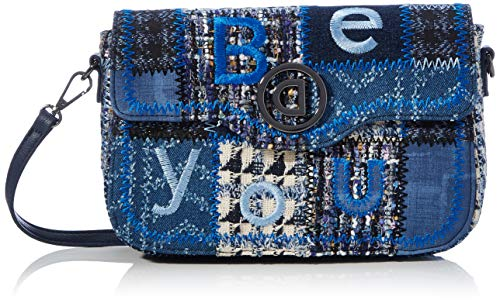 Desigual Accessories Fabric Across Body Bag, Bolsa para Cuerpo Mujer, azul, U