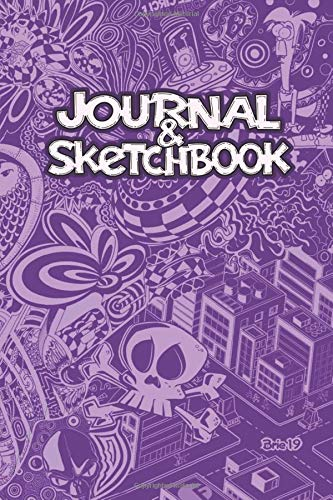 Doodle Journal and Sketchbook: 120 Blank Pages - 6 x 9 Pink Cover