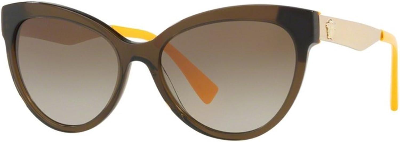 Versace VE4338 Sunglasses Green Crystal w Brown Gradient Lens 524613 VE 4338