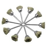 UKCOCO Set di spazzole per spazzole metalliche 10pcs Accessori per lucidatura abrasiva per...