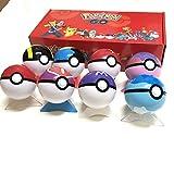 txyang 8 Uds Pokeball + 24 Uds FigurasPokemonJuguetes BolaconFigura Modelo Juguetes para Niños con Caja De Regalos para Niños