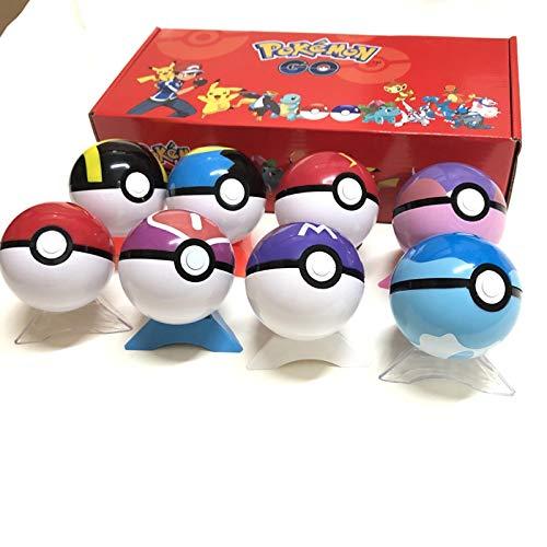 txyang 8 Stück Pokeball + 24 Stück FigurenPokemonToys BallMitFigur Modell Spielzeug Für Kinder Mit Box Geschenke Für Kinder