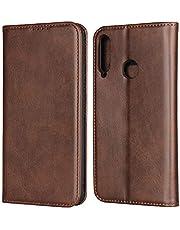 Funda con tapa para Huawei P40 Lite E, color marrón oscuro