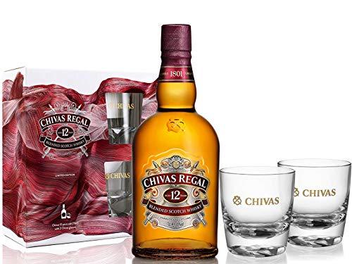 Chivas Regal 12 Jahre Geschenkset mit 2 Tumblern 0,7 Liter 40% Vol.