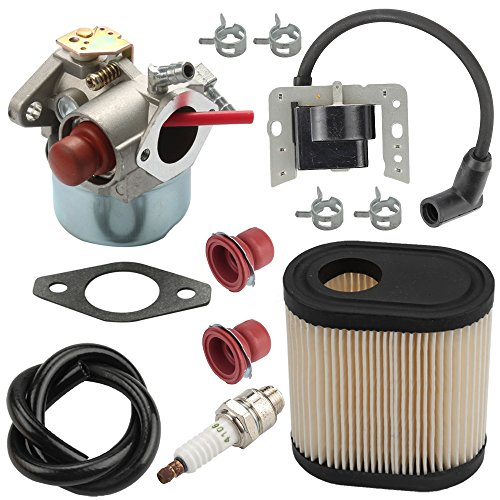 Harbot LV195EA 640350 Carburetor + 34443D 34443A Ignition Coil + 36905 Air Filter for Tecumseh LEV105 LEV120 LEV100 Toro 20016 20017 20018 20012 20073 20074 22 inch Recycler Lawn Mower