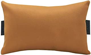 Acm Leather Cushion Pillow Head & Neck Rest Compatible with Full Back Office Chair Golden (This is Pillow for Chair and Ch...